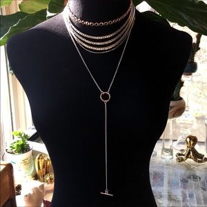 Free People Locked Up Chain Layered Choker